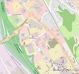 Plan d'accés au parking Darty - côté Kéria