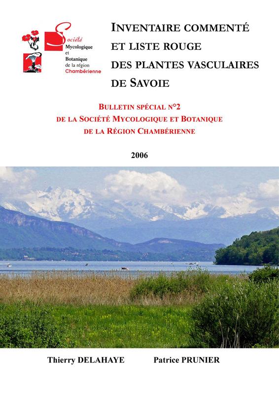 Couverture de l'inventaire commenté et liste rouge des plantes vasculaires de Savoie