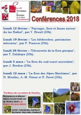 Image de l'actualité Les conférences de la Société mycologique et botanique de la région chambérienne