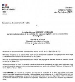Image de l'actualité Réglementation cueillette plantes et champignons en Savoie
